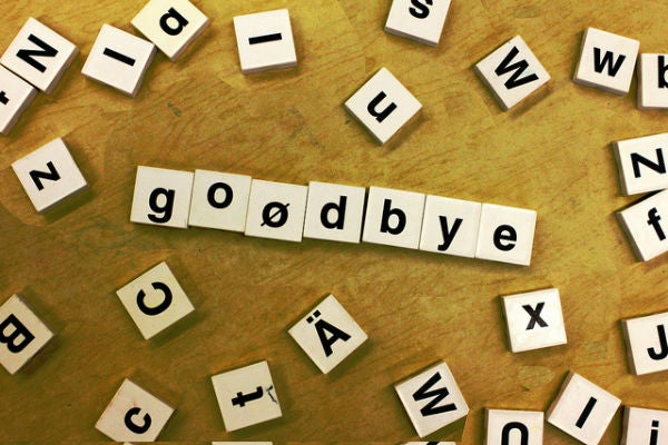 goodbye scrabble letters tiles