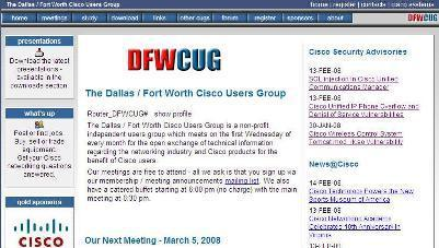 THE DALLAS/FORT WORTH CISCO USER GROUP