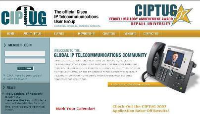 CIPTUG: THE OFFICIAL CISCO IP TELECOMMUNICATIONS USER GROUP