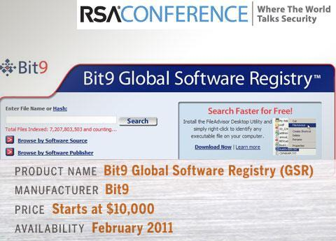The Bit9 Global Software Registry (GSR)
