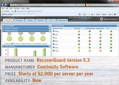 Continuity\'s RecoverGuard version 5.3 (v5.3)