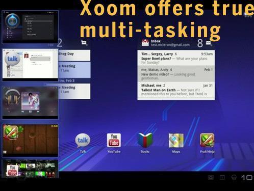 Xoom offers true multi-tasking