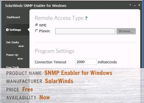 Solarwinds' SNMP Enabler for Windows