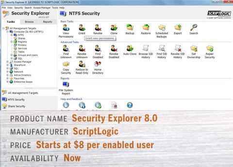 ScriptLogic\'s Security Explorer 8.0