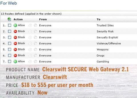 Clearswift SECURE Web Gateway 2.1