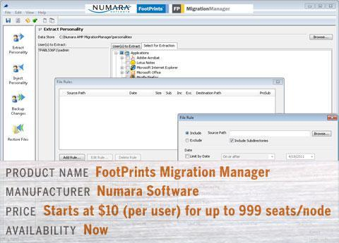 Numara's FootPrints Migration Manager