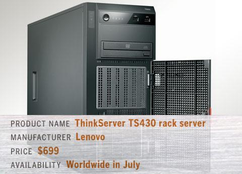 Lenovo's ThinkServer TS430 rack server