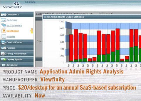 Viewfinity Application Admin Rights Analysis
