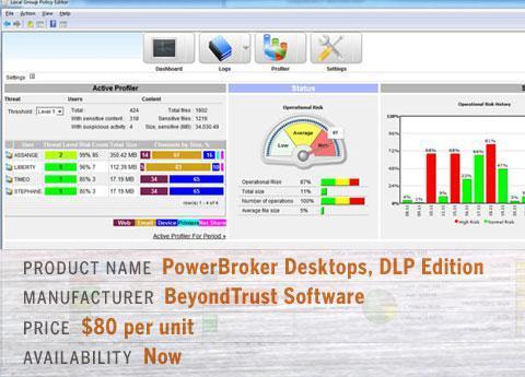 BeyondTrust\'s PowerBroker Desktops, DLP Edition