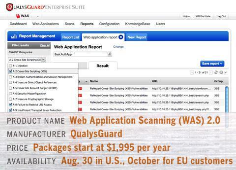 QualysGuard Web Application Scanning (WAS) 2.0