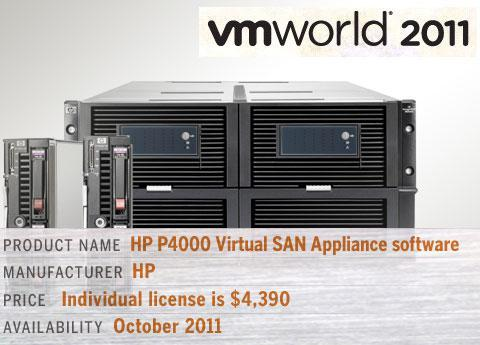 HP P4000 Virtual SAN Appliance (VSA) software