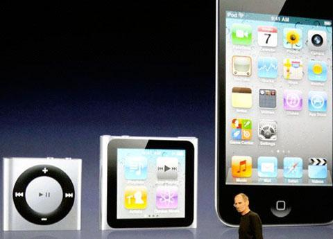 Latest iPod lineup