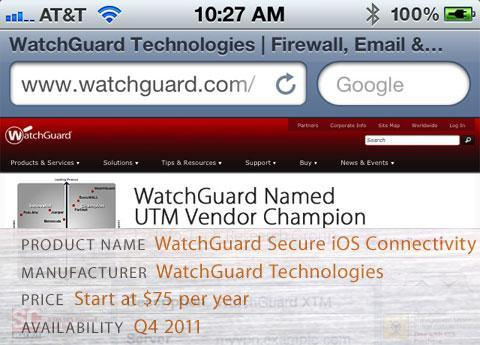 WatchGuard Secure iOS Connectivity