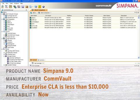 CommVault\'s Simpana 9.0