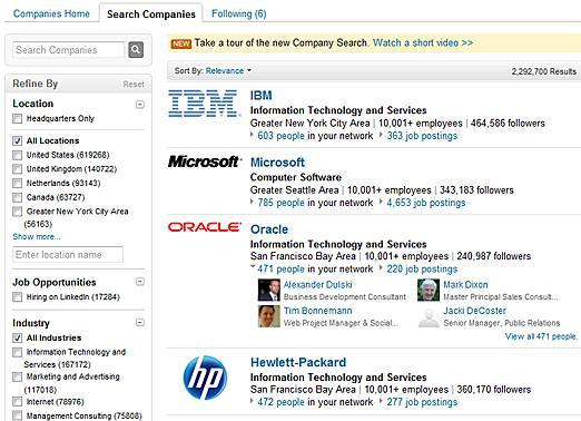 "Discover New Companies With ""Company Search"""