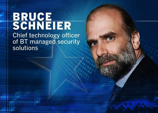Bruce Schneier, chief technology officer of BT managed security solutions