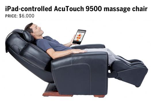 iPad-controlled AcuTouch 9500 massage chair:
