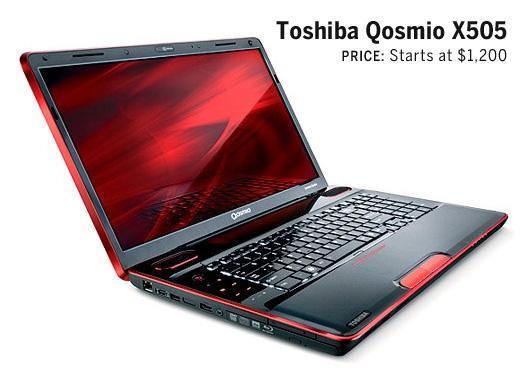 Toshiba Qosmio X505: