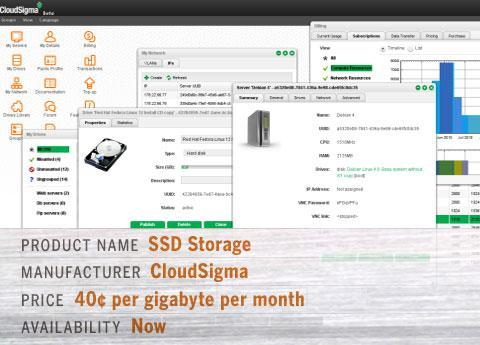 cloud sigma's SSD Storage