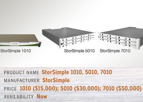 StorSimple 1010, StorSimple 5010, and StorSimple 7010