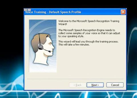 Speech Recognition in Windows XP