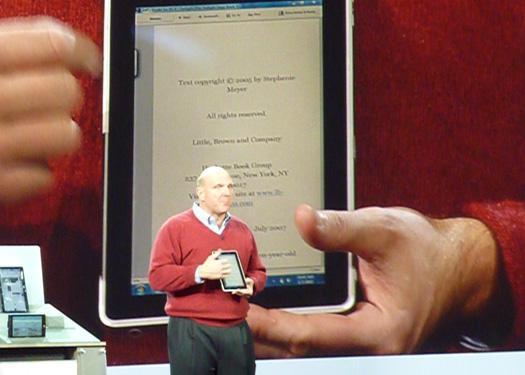 Ballmer\'s revelation at CES 2010