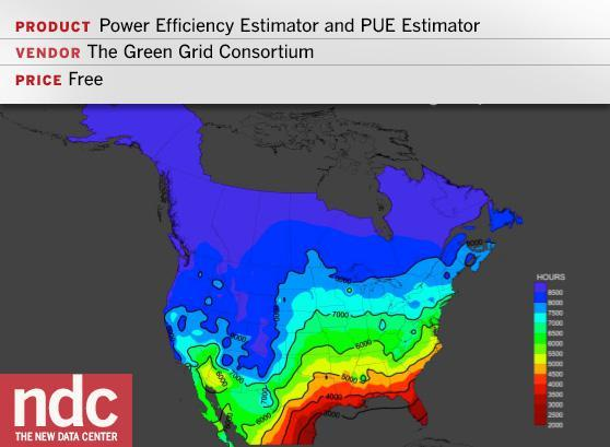 Power Efficiency Estimator and PUE Estimator