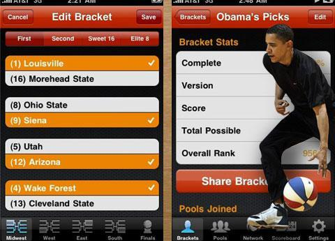 PocketBracket: College Basketball Tournament