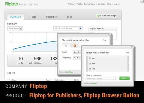 Fliptop for Publishers, Fliptop Browser Button