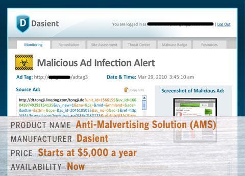 Dasient's Anti-Malvertising Solution