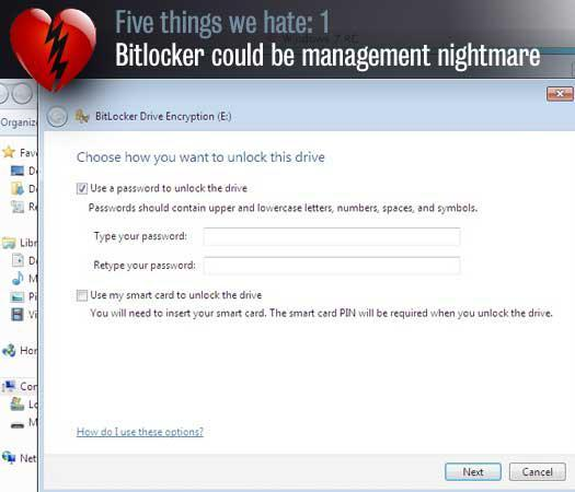 Bitlocker could be management nightmare