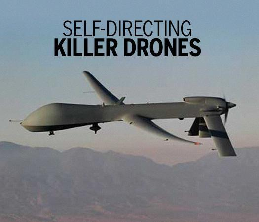 Self-directing killer drones