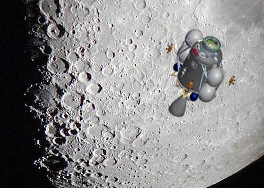 Moon rocket: