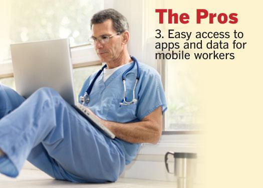 3. Easy access to apps and data for mobile workers