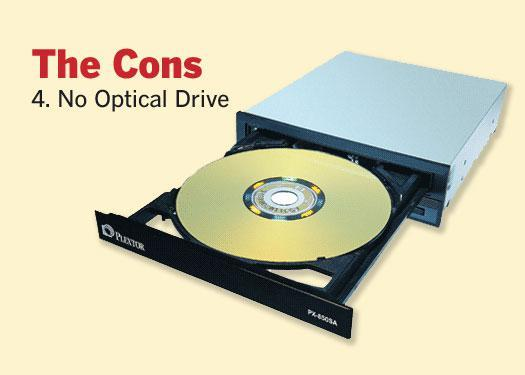 4. No Optical Drive
