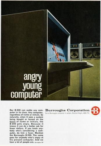 Burroughs Angry Young Computer