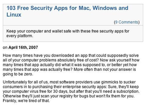 103 Free Security Apps for Mac, Windows and Linux