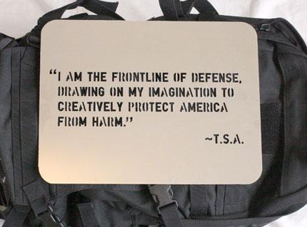 TSA's own words