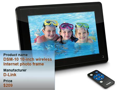D-Link 10-inch wireless Internet photo frame