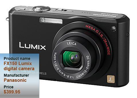 Panasonic FX150 Lumix digital camera
