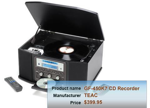 TEAC GF-450K7 CD Recorder with turntable/cassette deck