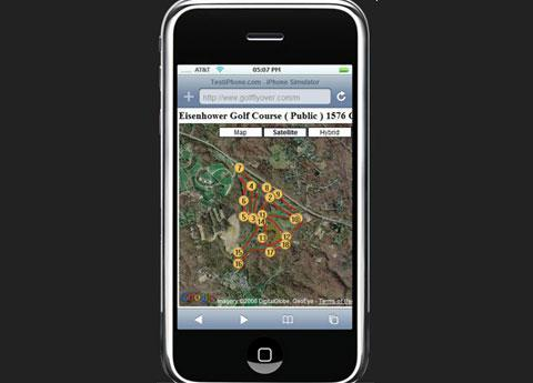 GolfFlyover\'s golf course mapping application