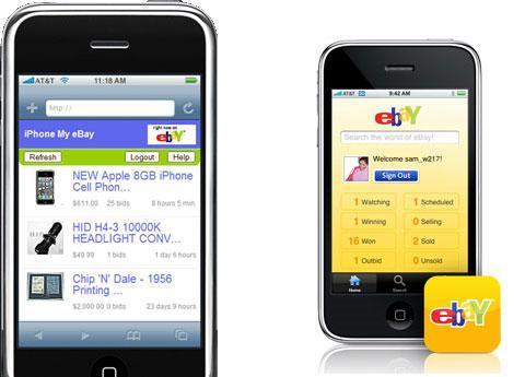 eBay native iPhone app
