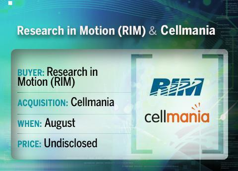 RIM buys Cellmania