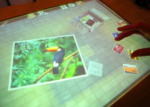 Family Archive is an interactive, multitouch device to help capture and manage digital and physical