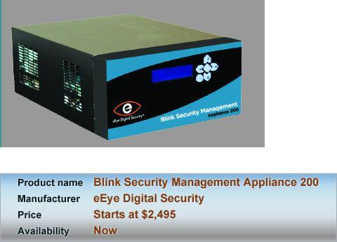 eEye Digital Security Blink Security Management Appliance 200