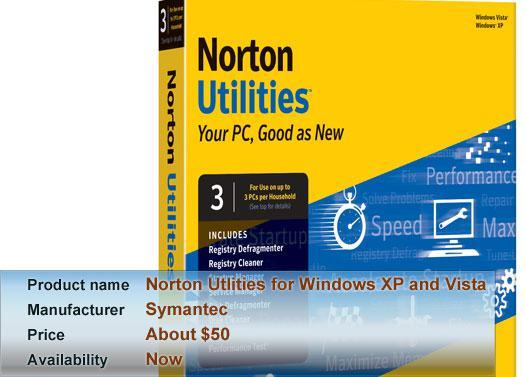 Symantec's Norton Utlities for Windows XP and Vista