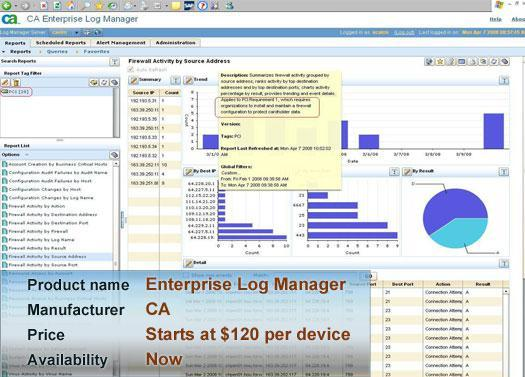 CA's Enterprise Log Manager