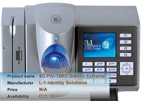 L-1-Identity Solutions 4G PIV-TWIC Station Extreme