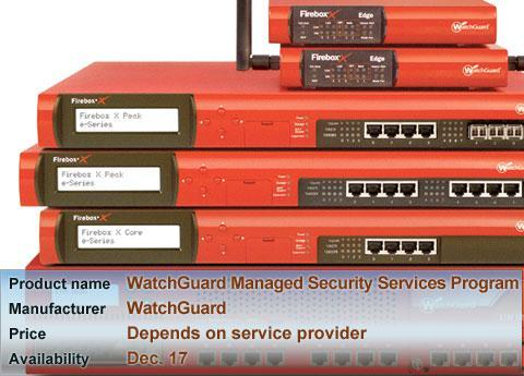 WatchGuard Managed Security Services Program